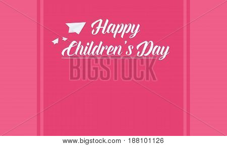 Collection stock banner for children day vector art