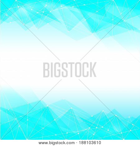 blue abstract design background, triangle, vector illustration