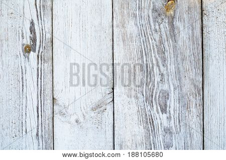 Cracked Weathered Gray Shabby Chic Painted Wooden Board Texture, Front View
