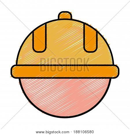 man with safety helmet icon over white background. colorful design. vector illustration