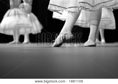 Dance Recital In Black And White