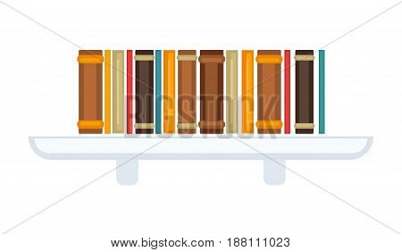 Vector illustration of simple bookcase isolated on white.