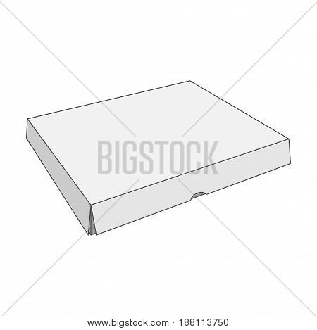 Paper white vector Box Template in outline Style