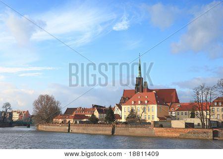 Ostrow Tumski near Odra river in Wroclaw, Poland (true, 21 Mpix photograph - no pixel interpolation!)