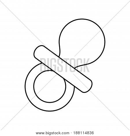 baby pacifier icon over white background. vector illustration