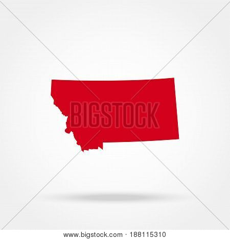 map of the U.S. state of Montana