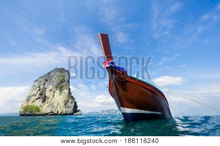 Boat on the beautiful sea at Thailand