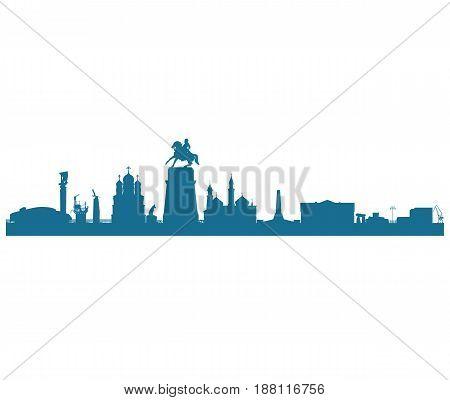 Precast silhouette of the city of Togliatti