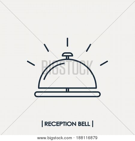 Reception bell outline icon isolated. Vector illustration