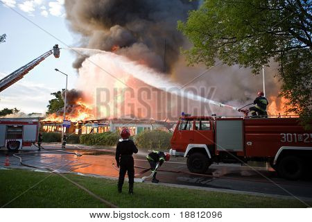 Big fire in Wroclaw, Poland 2008 poster
