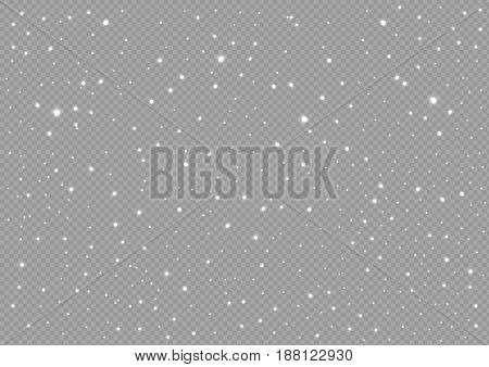 White snow background. New Year or Christmas illustration