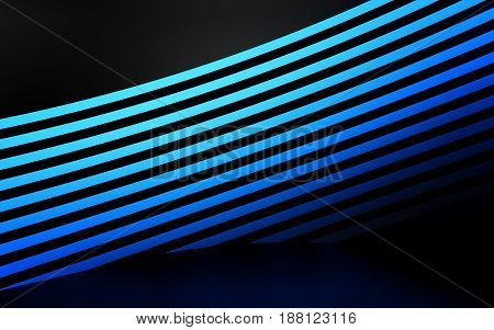 Abstract blue panels with copyspace for text. 3D rendering