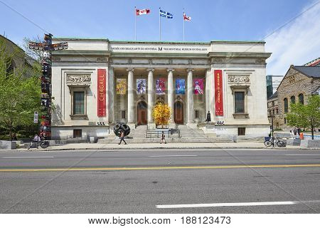 Facade Of The Montreal Museum Of Fine Art