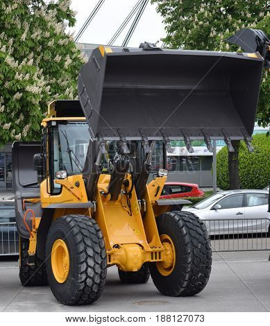 Bulldozer, type of heavy equipment for pushing large quantities of soil