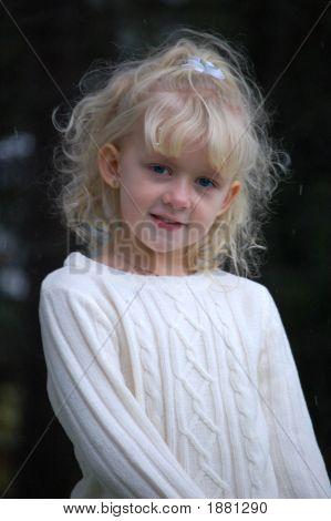 Blond Girl Outside