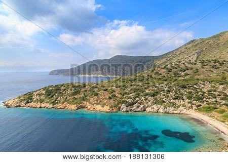 Idyllic Mediterranean sea in Datca during summer