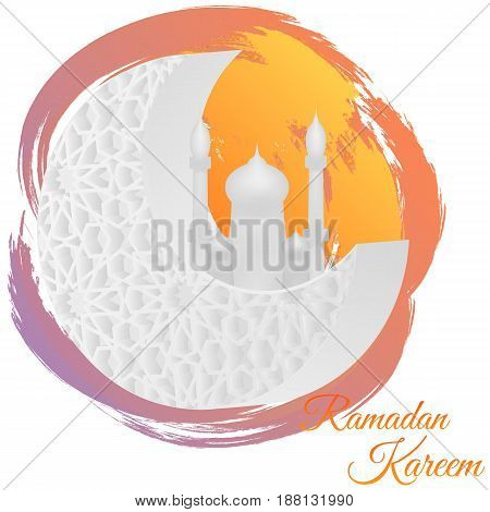 Vector illustration of Ramadan kareem. EPS 10.