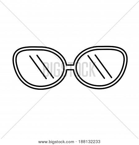 line cute sunglasses fashion style design, vector illustration