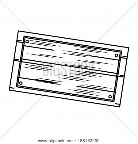 wooden board, old style blank icon vector illustration