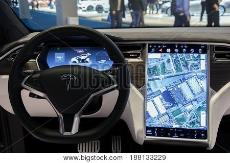 Tesla Model X Car Interior Navigation