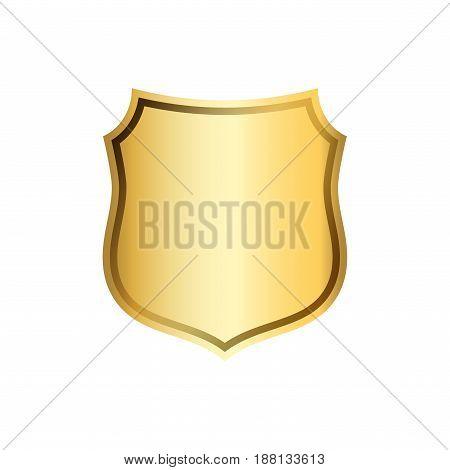 Shield Gold Icon Shape Emblem