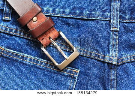 Nice background made from extreme closeup blue jeans under sunlight