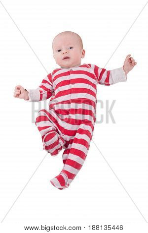 baby vertical portrait isolated on white background