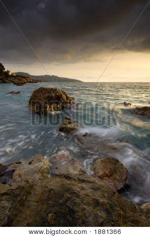 Seascape In Kalamata, Greece