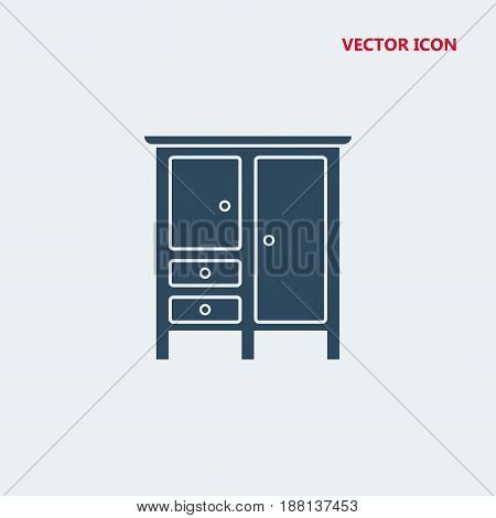 bedroom closed closet for clothes Icon, bedroom closed closet for clothes Icon Eps10, bedroom closed closet for clothes Icon Vector, bedroom closed closet for clothes Icon Eps