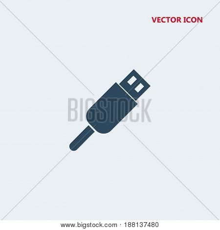 usb connector vector icon isolated on white background