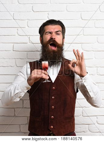 Funny Handsome Bearded Man