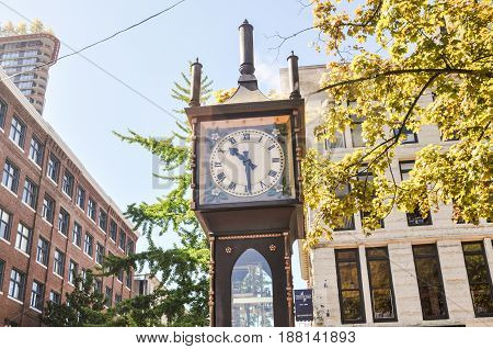 June 30 2017-Steam Clock  at Gastown Vancouver,BC Canada