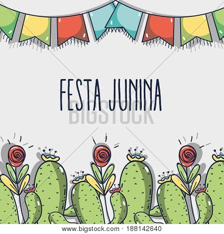 colorful concept related with festa junina, vector illustration