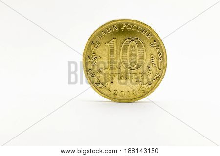 Russian coin with the image of the Crimea Peninsula