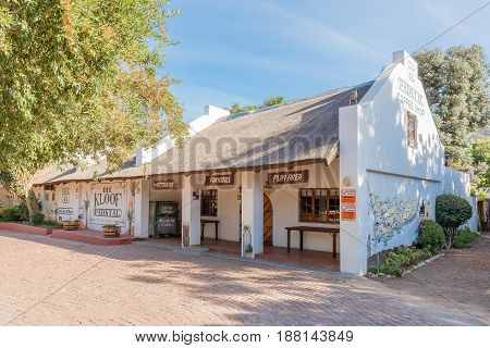 MONTAGU SOUTH AFRICA - MARCH 26 2017: A farm stall and restaurant in Montagu a town on the scenic Route 62 in the Western Cape Province