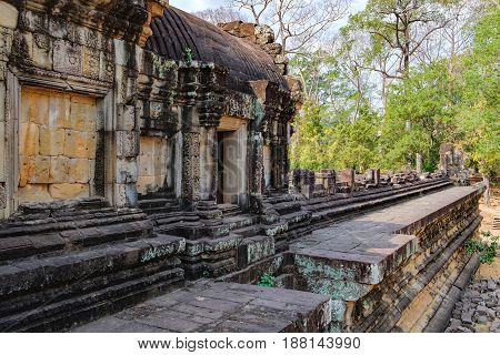 Baphuon Temple in Angkor Complex, Siem Rea,p Cambodia. It is three-tiered temple mountain and dedicated to the Hindu God Shiva. Ancient Khmer architecture and famous Cambodian landmark, World Heritage