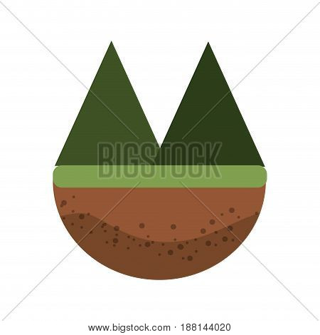 beautyful and natural mountains ecology, vector illustration design
