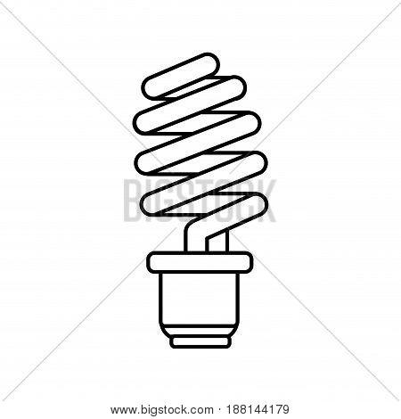 line save energy light bulb, vector illustration design