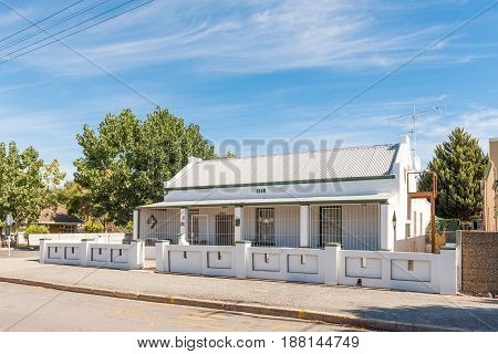 ROBERTSON SOUTH AFRICA - MARCH 26 2017: An historic old house built in 1860 in Robertson a town on the scenic Route 62 in the Western Cape Province