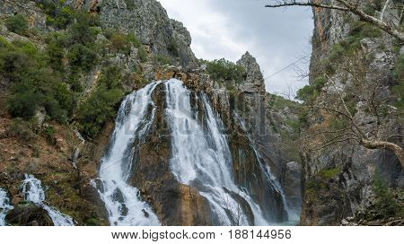 Spring time in Ucansu Waterfall in Antalya Turkey