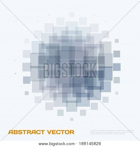 Abstract vector design elements for graphic layout. Modern business background template with grey rectangles, squares for tech, building, urban, construction.