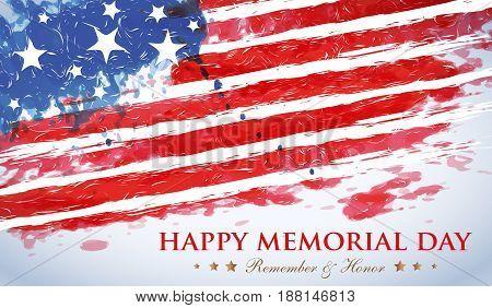USA Memorial Day illustration in vector format