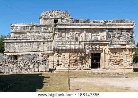 Edificio De Las Monjas In The Mayan City Chichen Itza