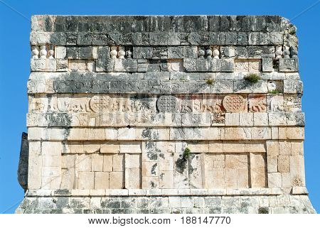 Mayan Pyramid Of Jaguares In Chichen Itza