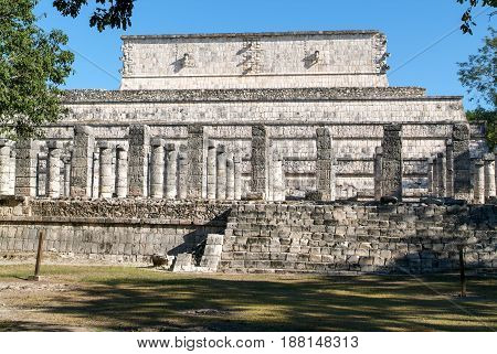 Temple Of The Warriors At Chichen Itza, Yucatan, Mexico