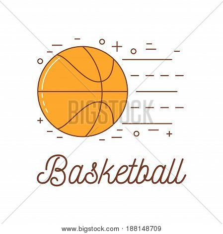 Basketball Abstract Illustration With A Ball