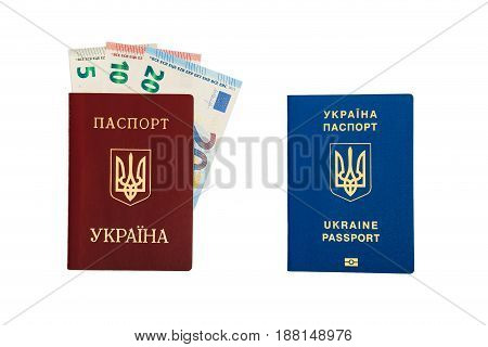 New Ukrainian Blue International Biometric Passport With Identification Chip And Fingerprints Vs Old