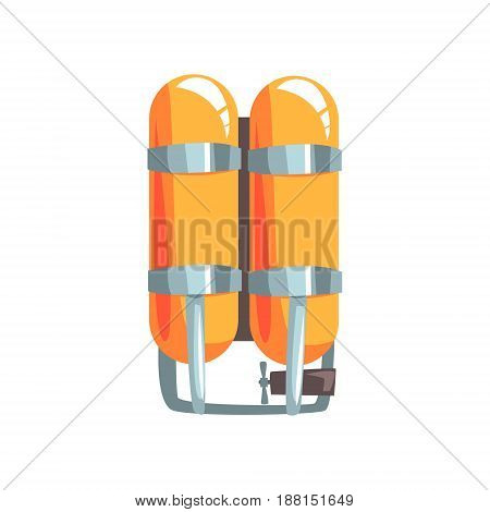 Orange oxygen cylinders vector Illustration isolated on a white background
