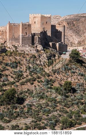 Medieval moorish fortress Alcazaba in Almeria Eastern tip is the bastion of the outgoing Andalusia Spain