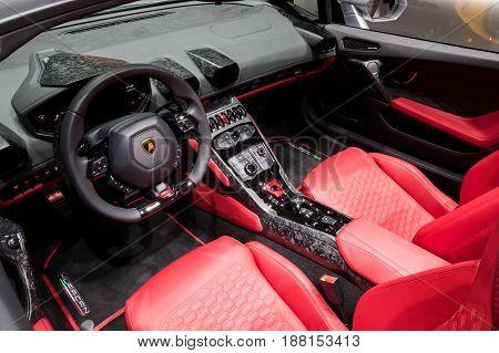 Lamborghini Huracan Rwd Spyder Sports Car Interior